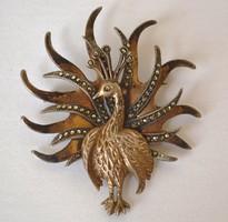Bross aranyozott ezüst páva