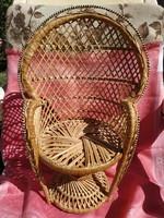 Fonott mini fotel, baba fotel, kaspó tartó