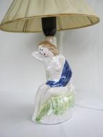 Ülő lány kerámia lámpa