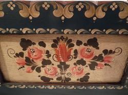 Újságtartó - fa - régi bajor - kézzel festett - 53 x 49 x 22 cm
