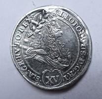 Lipót XV krajcár 1695 KB.