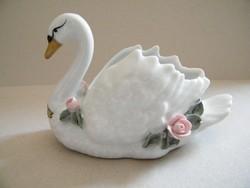 Gerold rózsás porcelán hattyú
