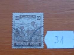 20 FILLÉR 1919 Magyar Posta Arató 31#
