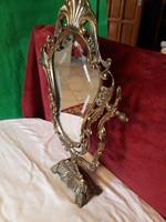 Antik metszett réz tükör