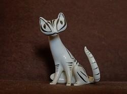 Hollóházi porcelán cica.