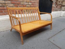 Skandináv design ülőgarnitúra, kanapé és 2 db fotel