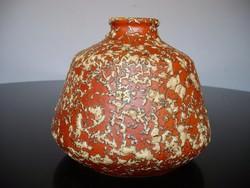 Nagyon mutatós retro Tófej kerámia váza