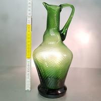 Zöld optikai díszítésű üvegkancsó (847)