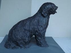 Samu Katalin  kutya szobra