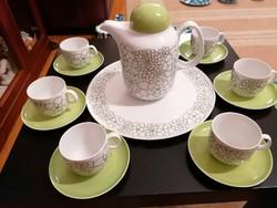 Arzberg kávéskészlet, különleges mintával és formavilággal. 6 személyes, hibátlan.