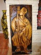 Gyönyörű nagyméretű fafaragás falikép Nagykürtös