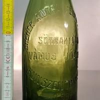 """""""Dreher Antal Serfőzdéi R.T. Sörraktára Vámos József Kunszentmiklós 0.55l"""" sörösüveg (846)"""