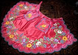 Hímzett cigány kötény felnőtt ruha viselet