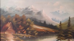Lengyel kortárs festő 2002 képe