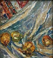 """Fehér Etelka, Gyelmis Lukácsné   (1921 - ) """" Csendélet.. """""""