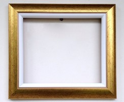 25x30 cm keret arany + fehér betét vászonhoz is alkalmas