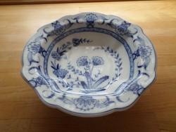 Antik Fischer & Mieg (Pirkenhammer) porcelán talpas kínáló tál