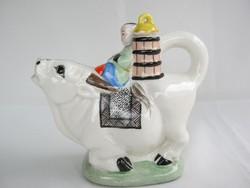Figurális porcelán kiöntő
