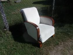 Art deco szép  keményfa vázas rugós ülésű 15500/db áron eladó