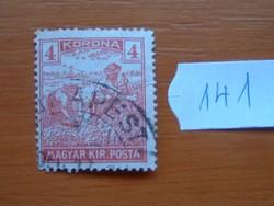 "4 KORONA ARATÓ 1920 -1924 ""MAGYAR KIR.POSTA"" 141#"
