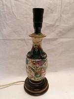 Keleti porcelán asztali lámpa