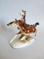 Német,Lippelsdorf vágtázó lovak