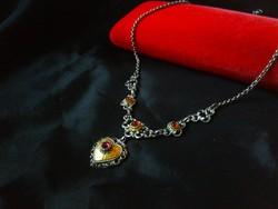 Almadin kövekkel Ezüst nyakék