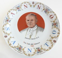Cislago Italy : II. János Pál Pápa emlék tányér - olasz emléktányér