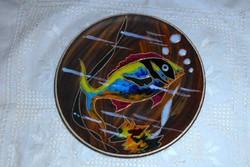 Fali tányér hal motívummal