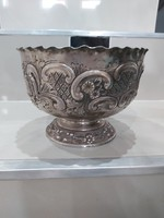 Antik ezüst szecesszió  kináló asztalközép