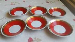 Hollóházi porcelán csésze alátét kistányér 6 db eladó!