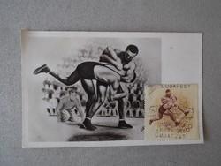 1953 augusztus 20. A Népstadion megnyitása-képeslap