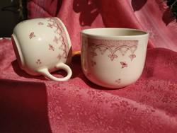 Antik angol csésze és cukortartó pótlásnak