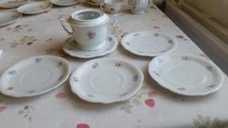 Zsolnay porcelán csésze alátét kistányér, cukortartó  eladó!