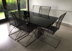 Formatervezett modern design étkező, tárgyaló székek, Till  Behrens stílusában
