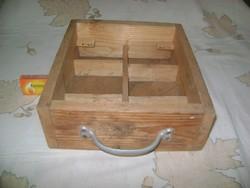 Régi, osztott bútor fiók - fenyő