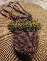 Gyöngyfűzött szecessziós antik táska