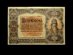 1000 KORONA - 1920 - GYÖNYÖRŰ NAGYMÉRETŰ BANKJEGY
