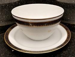 Echt Kobalt német porcelán szószos tál 12 K arannyal