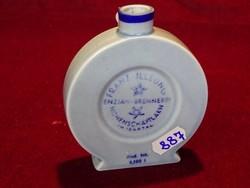 FRANZ ILSUNG jelzésű ausztriai porcelán Altenkunstadt  kék kulacs. átmérője 9,5 cm.