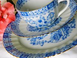 Kék szépség, Seltmann Weiden reggeliző szett, 3 részes, csésze, kistányérok