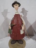 Fém vadászemberke - nagy 23 x 11 cm -  Német exkluzív - új