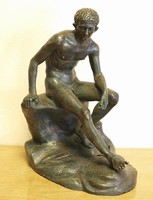 Lüszipposz  : Pihenő Hermész,bronz szobor