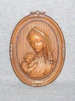 Mária és kis Jézus falidísz