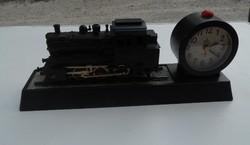 Mozdony Vonat ébresztő óra ajándékötlet vonatosoknak