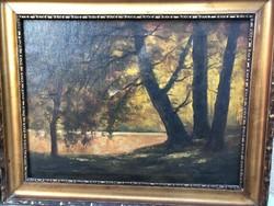 Eladó 2db Kerekes szignóval ellátott antik tájkép pár (40x50 olaj, vászon)
