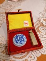 Kínai zsírkő pecsét készlet bika