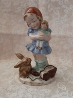W&A Bertram kislány babával, nyuszival