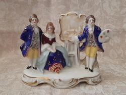 Sitzendorf barokk kézzel festett porcelán