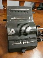 Antik BRUNSVIGA számológép eladó az 1920-as évekből Magy.Kir.Posta